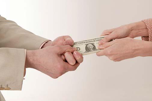 holding onto money
