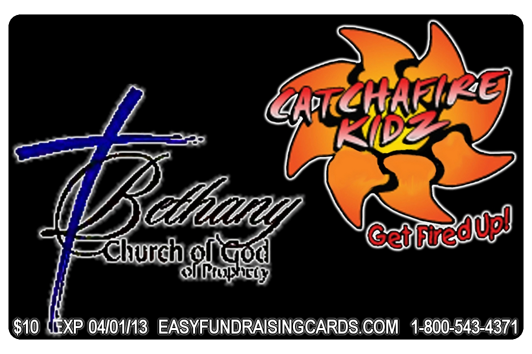 Bethany Church of God Discount Card front