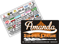 Amanda Summer Softball league Fundraising Card