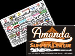 Amanda Summer Softball league Fundraising Card