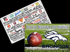 Pop Warner Football Fundraising Cards