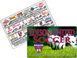 Fundraising Cards for Soccer Clubs