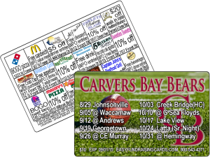 Football Discount card fundraising